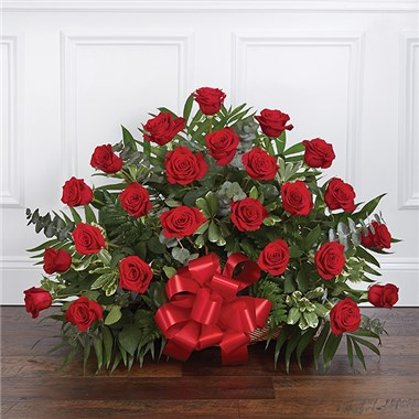 1 800 Flowers 174 Thoughts And Prayers Fireside Basket Red